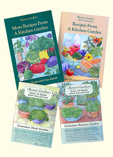 2 Cookbooks Plus Container Herb & Vegetable Collections
