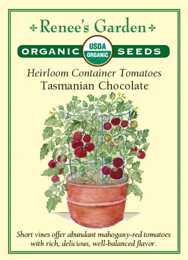 Tasmanian Chocolate\' Heirloom Container Tomatoes | Renee\'s Garden Seeds