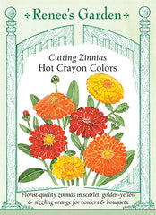 Cut And Come Again Heirloom Zinnias Renee S Garden Seeds