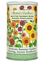 Heirloom Summer Garden Dancing, Joyous Sunflowers