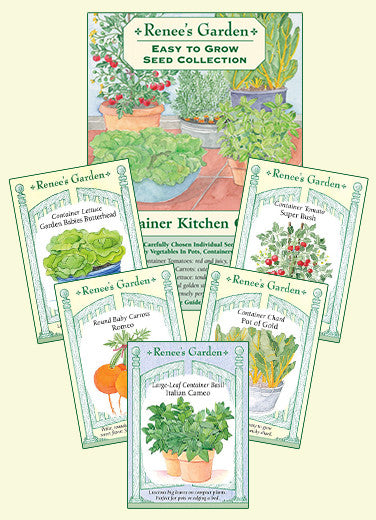 39 The Container Kitchen Garden 39 Easy To Grow Collection Renee 39 S Garden Seeds