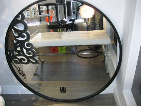 Large Round Rubber Wall Mirror