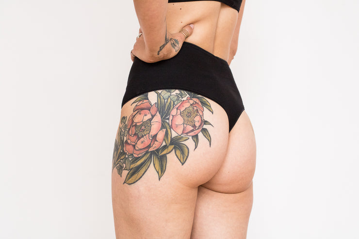 Organic Cotton High Waist Thong