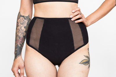 Organic Cotton & Mesh High Waist Thong