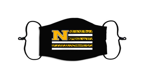 """Face Mask 2.0 Collection"" N FLAG - YELLOW ON BLACK"