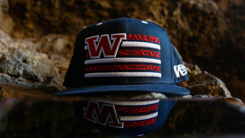 "Tribal Flag ""NAVY BLUE on NAVY BLUE"" Flagship Snapback."