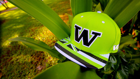 "W 1.5 Flagship ""BLACK ON LIME GREEN"" SNAPBACK"