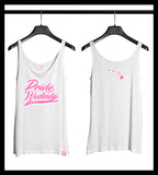 ".HI ISLANDS PINK on WHITE ""PRIDE OF THE WESTSIDE"" Women's Fitted Tank"