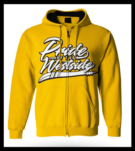"""Pride of the Westside Collection"" Yellow - Adult ZIP HOODIE"