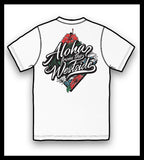 ".ALOHA WHITE ""ALOHA FROM THE WESTSIDE"" Adult Short Sleeve T-Shirt"