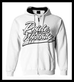 """Pride of the Westside Collection"" White - Adult ZIP HOODIE"
