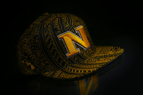 "N 2.0 ""GOLDEN YELLOW on BLACK POLYLINE"" Snapback"