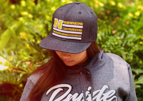 "Tribal Flag ""GOLDEN YELLOW on BLACK DENIM"" Flagship Snapback."