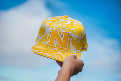 "N 1.5 HAWK CAMO ""Golden Yellow on White CAMO "" Flagship Snapback."