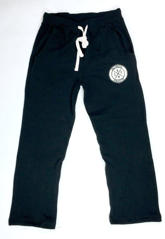 Black CrossFit Hollywood 6am Sweatpants with White Embroidered Patch