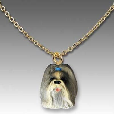 CLEARANCE Dog on Chain SHIH TZU MIXED COLOR Resin Dog Necklace Jewelry Pendant