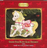 Breyer Horse 2009 GOLDEN STAR Blown Glass Holiday Ornament 3rd in Series PRICE REDUCED