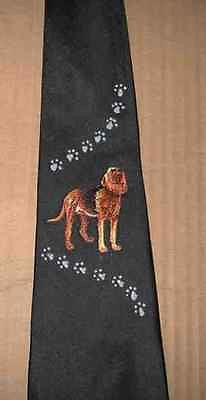 Mens Necktie BLOODHOUND Dog Breed Mens Accessory Polyester Tie