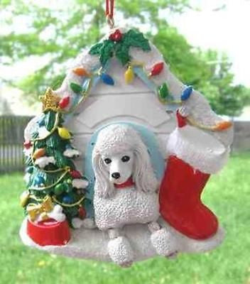 Cute POODLE Dog House Christmas Ornament RETIRED