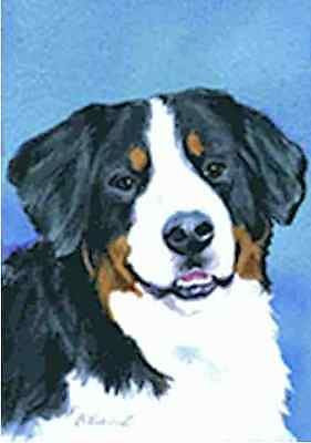 Artwork Garden Flag Bernese Mountain Dog Small Outdoor Garden Flag USA