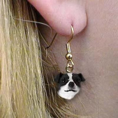 CLEARANCE Dangle Style JACK RUSSELL B/W Dog Head Earrings Jewelry