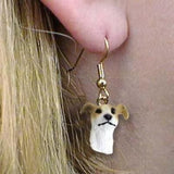 CLEARANCE Dangle Style GREYHOUND TAN Dog Head Earrings Jewelry