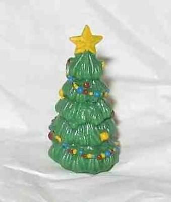 Craft Supply Miniature Decorated Painted CHRISTMAS TREE lot of 3 Pieces CLEARANC