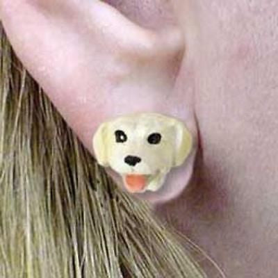 CLEARANCE Post Style LAB RETRIEVER YELLOW Dog Head Post Earrings Jewelry