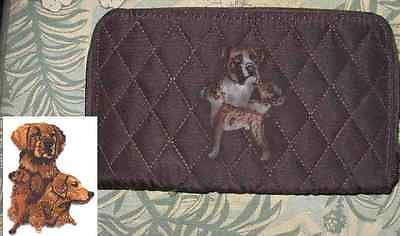 Belvah Quilted Fabric GOLDEN RETRIEVER Dog Breed Zip Around Ladies Wallet