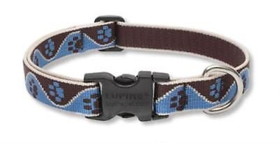 "Lupine 3/4"" wide MUDDY PAWS Adjustable Nylon Dog Collar size 9-13"""