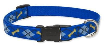 "Lupine 3/4"" wide DAPPER DOG Adjustable Nylon Dog Collar size9-14"""