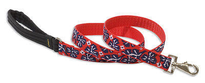 "Lupine 1"" wide WAVE HOUND 4 foot Nylon Dog Leash RETIRED PATTERN"