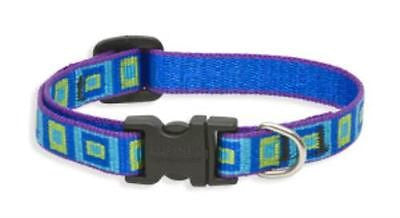 "Lupine 1/2"" wide SEA GLASS Adjustable Nylon Dog Collar size 6-9"""