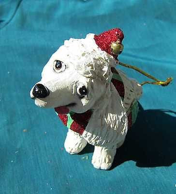 CLEARANCE..Cutie POODLE Silly Dog Breed Resin Christmas Ornament