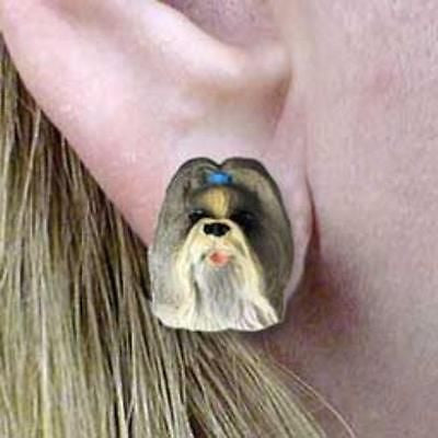 CLEARANCE Post Style SHIH TZU MIXED COLOR Dog Head Post Earrings Jewelry