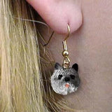 Dangle Style CAIRN TERRIER GRAY Dog Head Resin Earrings Jewelry CLEARANCE