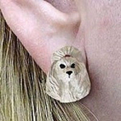 CLEARANCE Post Style POODLE GRAY Resin Dog Head Post Earrings Jewelry