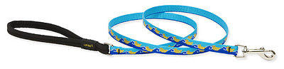 "Lupine 1/2"" wide JUST DUCKY 4 foot Nylon Dog Leash RETIRED PATTERN"
