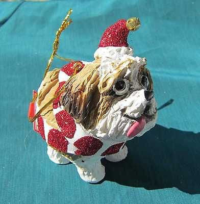 CLEARANCE..Cutie SHIH TZU Silly Dog Breed Christmas Ornament