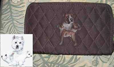 Belvah Quilted Fabric WESTIE WEST HIGHLAND Dog Breed Zip Around Ladies Wallet