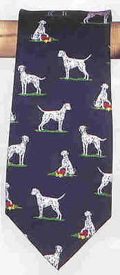 CLEARANCE..Quality Silk DALMATIAN Mens Necktie ALYNN Brand Made in USA