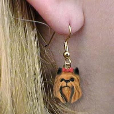 Dangle Style YORKIE YORKSHIRE TERRIER Dog Head Resin Earrings Jewelry