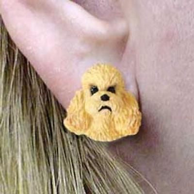 CLEARANCE Post Style POODLE MINIATURE APRICOT Dog Head Post Earrings Jewelry
