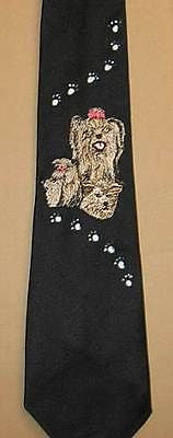 Mens Necktie YORKIE YORKSHIRE TERRIER Dog Breed Mens Accessory Polyester Tie