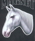 CLEARANCE...Die-cut HORSE WHITE Horse Head Flexible Vinyl Car Magnet