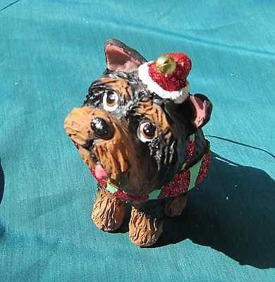 Cutie YORKIE YORKSHIRE TERRIER Silly Dog Resin Christmas Ornament RETIRED