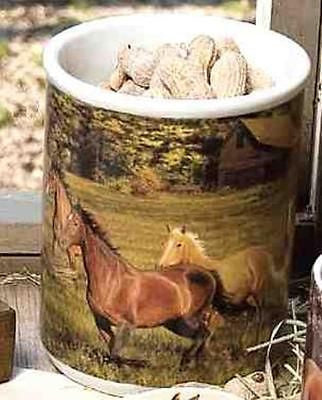 Horsey Kitchen HORSE Design Heavy Solid Ceramic Crock CLEARANCE SALE
