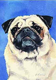Artwork Garden Flag Pug Dog Breed Small Outdoor Garden Flag made USA