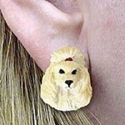 CLEARANCE Post Style POODLE APRICOT Resin Dog Head Post Earrings Jewelry