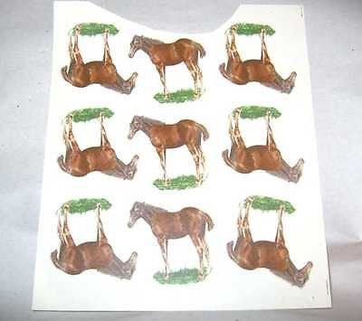 "Ceramic Decal Single FOAL Horse 1 1/2"" Decal 9 pieces"